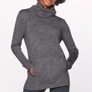 Lululemon turtleneck grey sweater